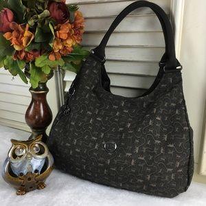 Kipling Hobo Handbag Metal Monkey Very Clean